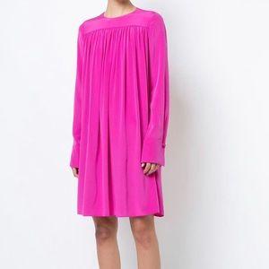 Diane von Furstenberg Ribbon silk oversized dress.